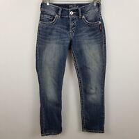 Silver Suki Capri Womens Medium Wash Blue Jeans Size 26