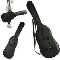 Soft Oxford Electric Guitar Gig Bag Black Backpack Case Padded Double Strap