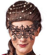 Spitzenmaske Schmetterling - Schwarz - Karneval Maskenball Halloween Gothic