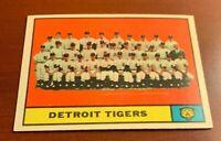 1961 Topps # 51 Detroit Tigers Team Baseball Card