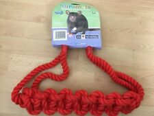 BNWT Pet Brands WORKOUT ACTIVITY ROPE Rat Ferret Chinchilla Climbing Toy Red NEW