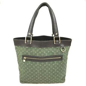 100% Authentic Louis Vuitton Monogram Mini Louse GM Green M92681 Used {09-0344}