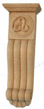 Pair of Celtic Corbels Carved In Pine PN362