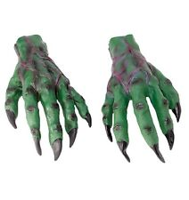 Horror Hands Green / Red Monster Halloween Fancy Dress