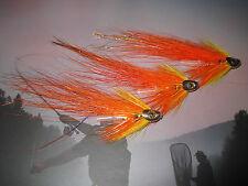 3 Vainer's Ultimate G Skullhead Flamethrower 1/2 Salmon Tube V Flies & V1 Hooks