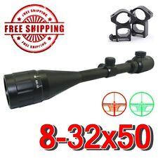 Profressional 8-32X50AOEG Mil-dot Illuminated Hunting Rifle Scope/ Ring Set