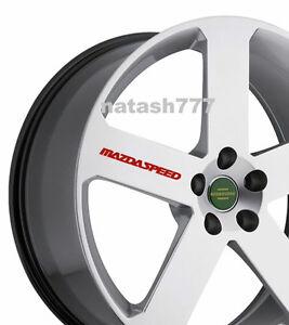 4 - MAZDASPEED Decal  Sticker Racing wheels rims MAZDA sport  emblem logo Red
