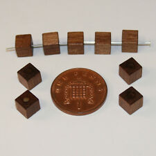 100 brown quality cube square Czech wood beads jewellery making 6mm