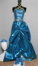 2010 Barbie Doll HADLEY Princess Charm School blair BLUE long Dress/School SHOES
