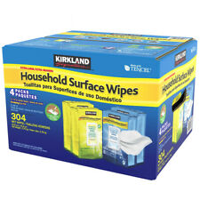Kirkland Household Surface Wipes 4 Packs ( Total 304 Wet Wipes )