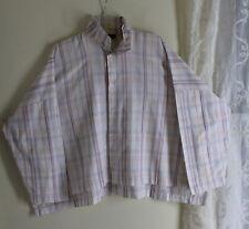 Eskandar -Sz 1 White Cotton Orange Stripe Boxy Iconic Hi-Low Blouse Shirt Top