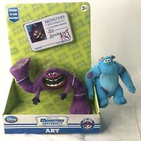 Disney Store Purple Art Articulated Action Figure Sulley Sully Small Plush Toys