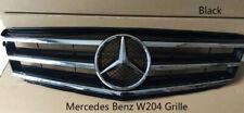 Black Mercedes-Benz C Class W204 Front Grill Grille C300 C350 C250 2008-14