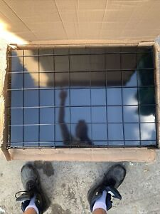 Ellie-Bo EB-BLACKS36 Large Folding Puppy Cage - Black