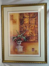 MOSAIC AND GERANIUMS BY RHYAN IN 2003-GICLEE-SIGNED