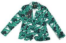 NEW Kardashian Kollection Martinique Printed Blazer Green White Women Sz 12  C16