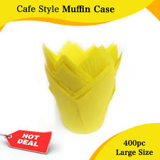CAFE STYLE YELLOW MUFFIN CASES MUFFIN PAPER 400/PC CUPCAKE BOX CAKE BOXES BOARDS
