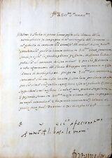 EIGENHÄNDIGER BRIEF ADMIRAL ANTONIO DORIA ADELSFAMILIE GENUA KAISER KARL V. 1548