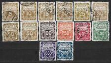 Czechoslovakia, Postage due Mi. 1-14, perforation 11 1/2
