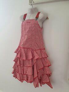 traumhaftes edles Kleid von Jottum Gr. 122 rot kariert Träger