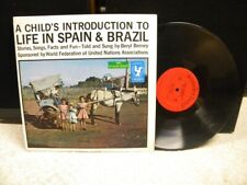 A CHILD'S INTRODUCTION TO LIFE IN SPAIN & BRAZIL Beryl Berney LP WONDERLAND 1493
