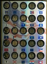 1999 - 2006 STATE QUARTER GOLD PLATED SET LOT OF 8 WITH HOLDER