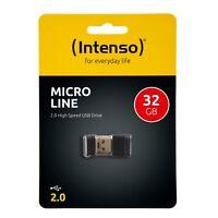 Intenso Micro Line 32 GB USB Stick Speicher 32GB mini MicroLine neu schwarz  OVP