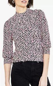 Ladies Oasis Purple Leopard Print top / Blouse Sizes: 6-8, 10, 16-18 RRP £32.00