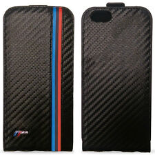 Official BMW M Carbon Flip Case for Apple iPhone 6 6s Three Stripe Version