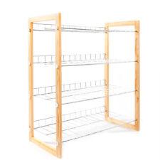 4-Tier Metal Shoe Rack 12 Pairs Wall Bench Shelf Closet Organizer Storage