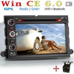 Rückfahrkamera+ Autoradio Navi Karte GPS DVD Für Ford Mustang Taurus Freestyle