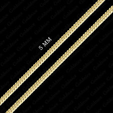 10K Yellow Gold Hollow Miami Cuban Link Chain 5mm Necklace 24 Inch