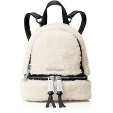 New Michael Kors Rhea Zip MINI Extra Small Messenger Backpack shearling leather