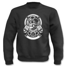 Pullover Vintage Biker Skull, Sweatshirt