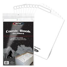 (25) BCW COMIC BOOK DIVIDERS  - WRITE-ON FOLDABLE TABBED - WHITE PLASTIC