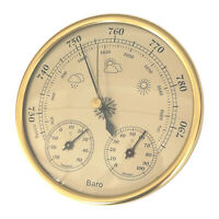 Vintage Weather Station Barometer Humidity Thermometer Plaque