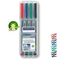 STAEDTLER 316 LUMOCOLOR FINE NON-PERMANENT 0.6mm PEN ASSORTED HARDCASE OF 4