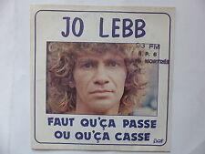 JO LEBB Faut qu'ca passe ou qu'ca casse sbr 1801 bernett records