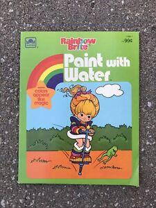 Vintage Rainbow Brite Paint With Water Golden Activity Book 1769-1 Unused