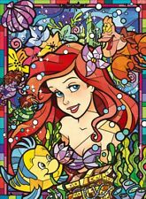 500 Piece Jigsaw Puzzle Disney Princess Ariel The Little Mermaid Stained Glass