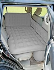 Inflatable Travel Car Bed Camping Mattress Back Seat Truck Sleep w/ Pumps (GRAY)