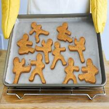 Ninjabread Men Cookie Biscuit Cutters - Kung Fu Gingerbread 3 Pcs Ninja Man Men