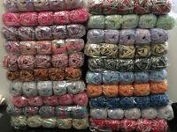 knitting wool 5 x 100g acrylic yarn 8ply bulk buy several multi coloured balls