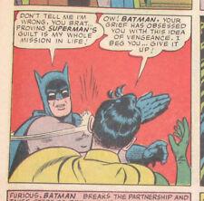 WORLD'S FINEST COMICS #153 G, Batman Slaps Robin Meme Panel! DC Comics 1965