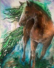 EVERGREEN  8x10 EARTH HORSE  print by Artist Sherry Shipley