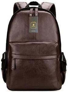 New Real Genuine Leather Back Pack Rucksack Laptop Shoulder Travel Men's Bag