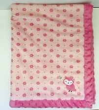 Child of Mine Carters Sherpa Baby Blanket Plush Pink Floral Owl Butterfly Lovey