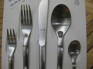 WMF Evoque 5 tlg Messer Gabel Löffel Kuchengabel Kaffeelöffel  Neu