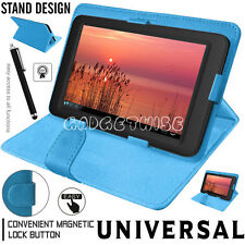 "New Universal Leather Cover Case For Amazon Kindle Fire 7"" & Alcatel Pixi 4 (7"")"