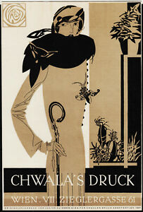 altes kleinplakat 1927 chwala's druck, wien, julius klinger  /0925
